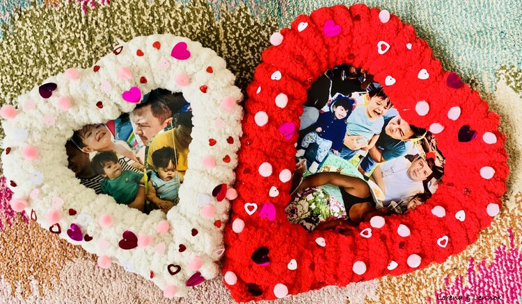 DIY Heart Wreath Photo Collage. A Heartwarming Keepsake to Make With Your Child This Valentine's Day #Valentinesdaygifts #diyvalentinesdaygifts #diycraft #diycraftsforkids #craftsforkids #valentinesdaygiftideas #valentinesdaycraftsforkids #valentinesfinemotorcrafts #creativecrafts #creativevalentinesdaycrafts #valentinesdaywreath #valentinesdaygiftforhim #valentinesdaypictures #valentinesdayideasforkids #valentinesdaykeepsake