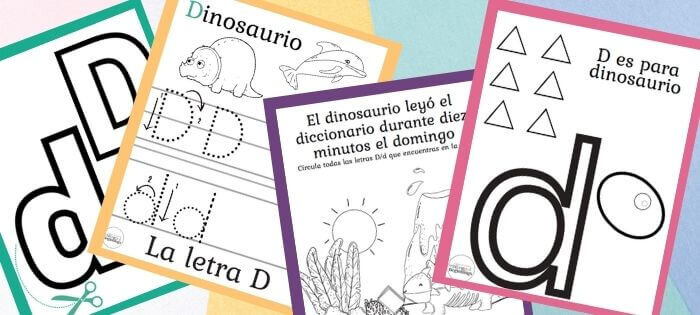 Free Letter D Worksheets In Spanish For Kids Ages 3-6 — Bilingual Beginnings