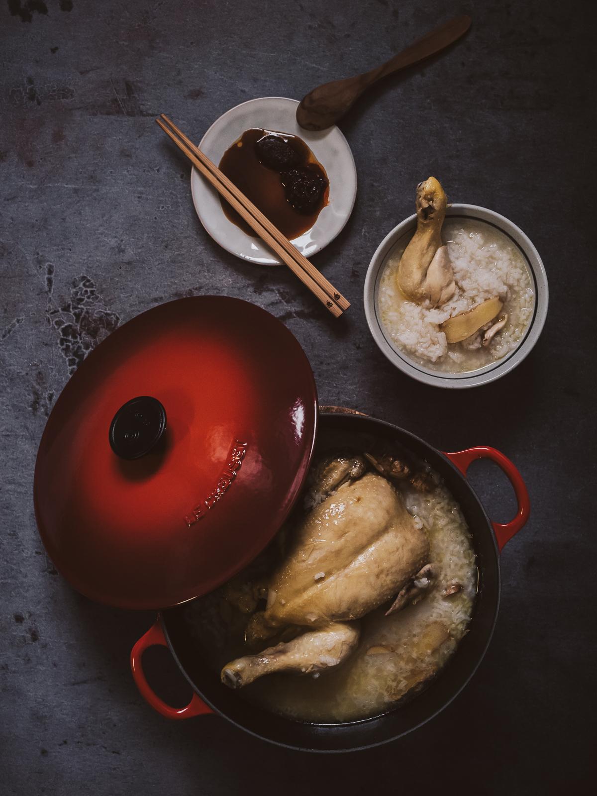 薑片雞粥 - Chicken porridge with ginger
