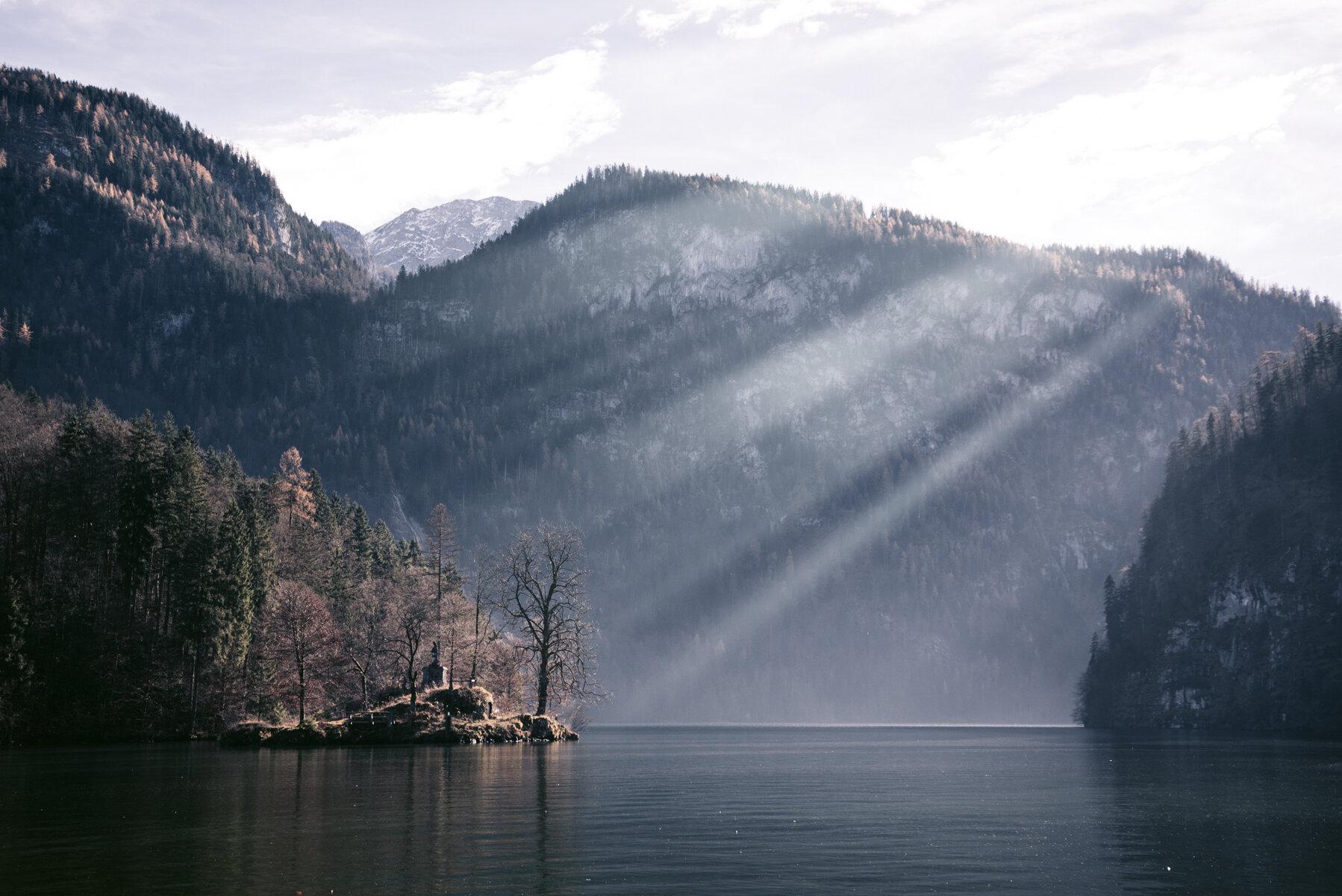 國王湖十一月秋季景致