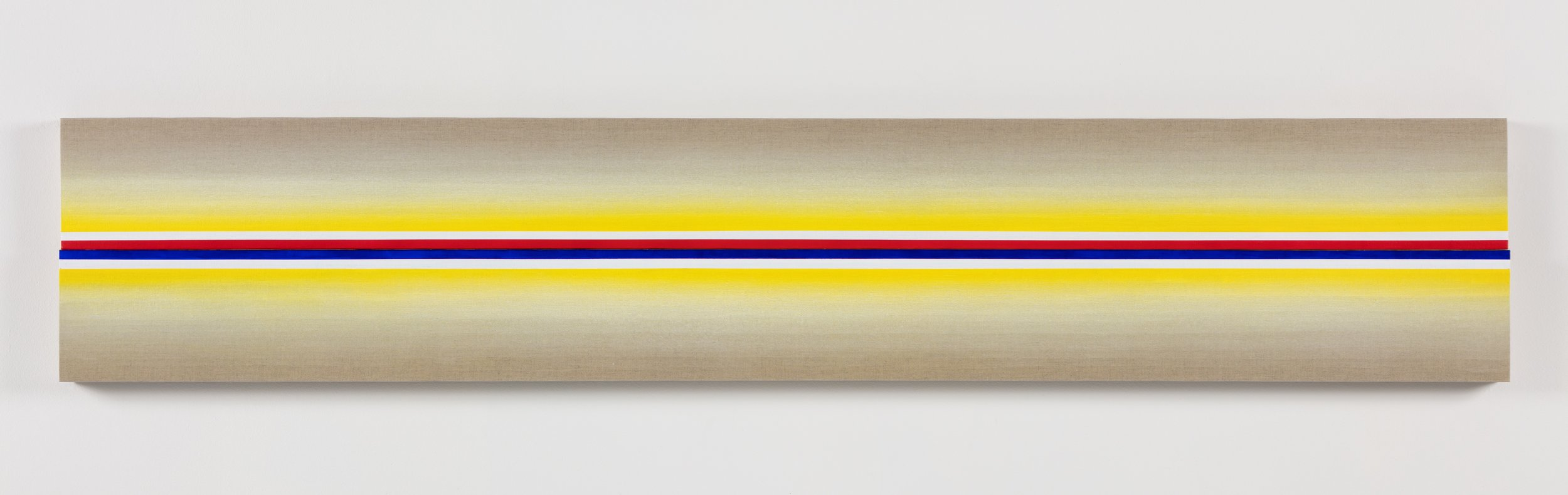 Adam Henry  Untitled (Sd2e3) , 2019 Synthetic polymers on Linen 11 × 61 inches (27.94 × 154.94 cm)