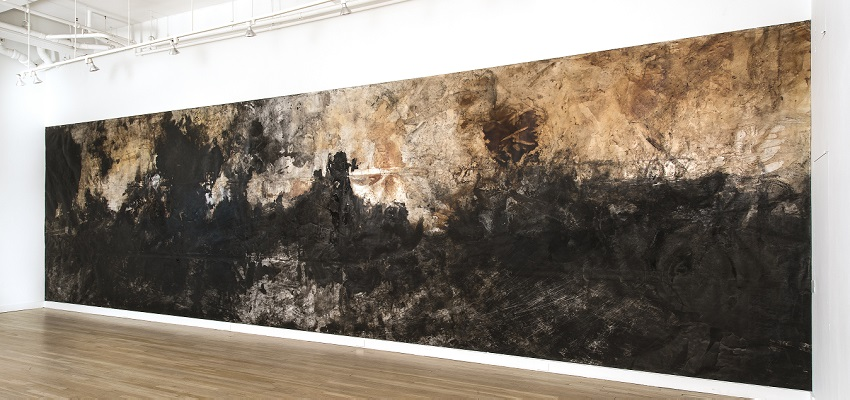 Athena LaTocha, installation view, CUE Art Foundation, New York, 2016