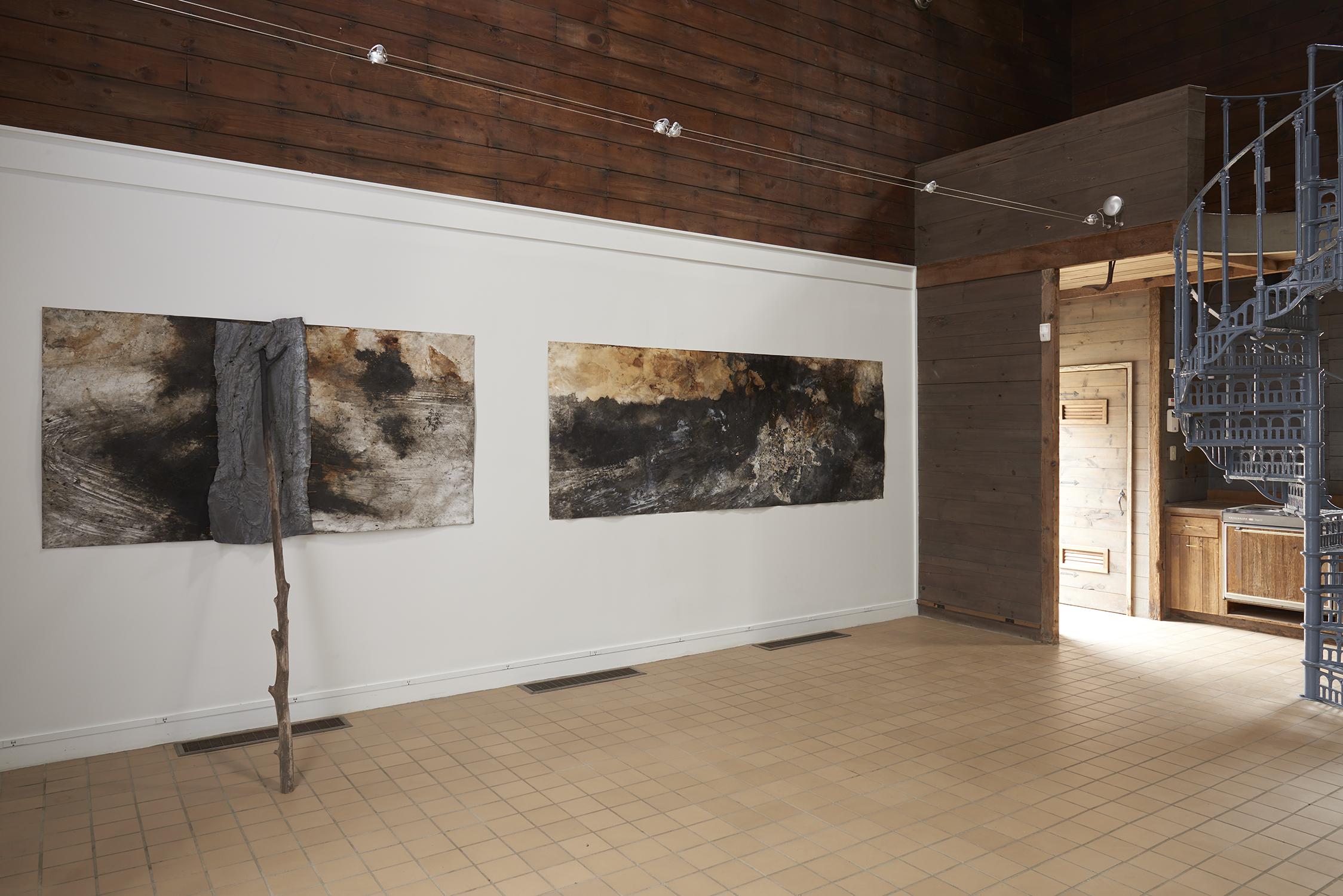 Athena LaTocha, installation view, JDJ   The Ice House, 2019