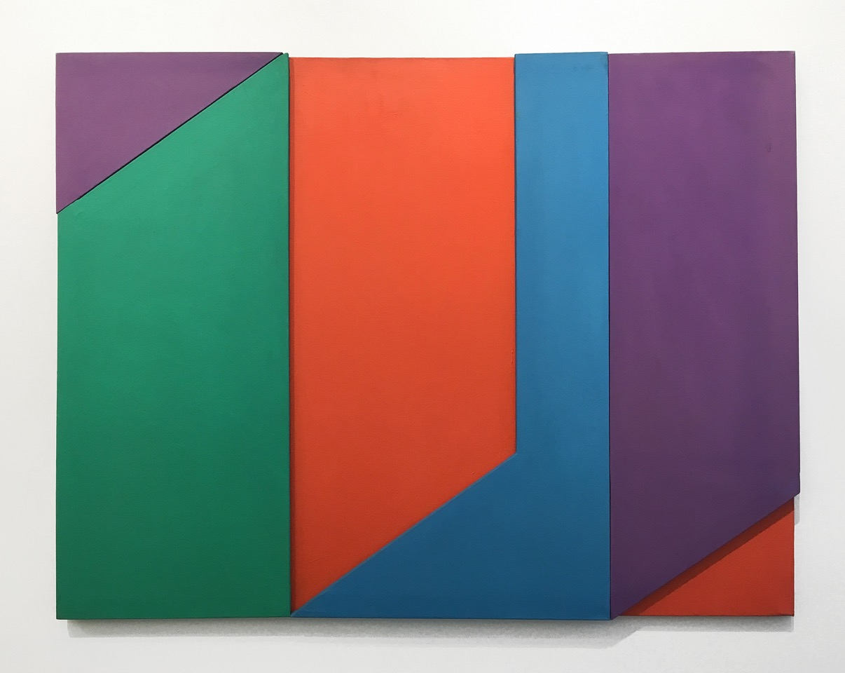 Robert Barber  Untitled (Freeway Series)  1973-74 Acrylic on four conjoined canvases 48.5 x 64 inches (123.2 x 162.6 cm)