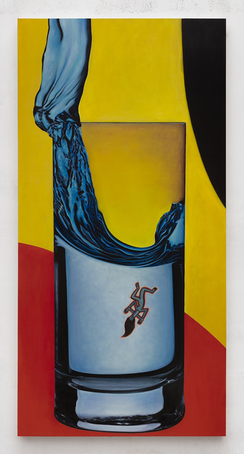 Lucia Love  Tall Drink of Water , 2018  oil on panel 24 x 48 inches