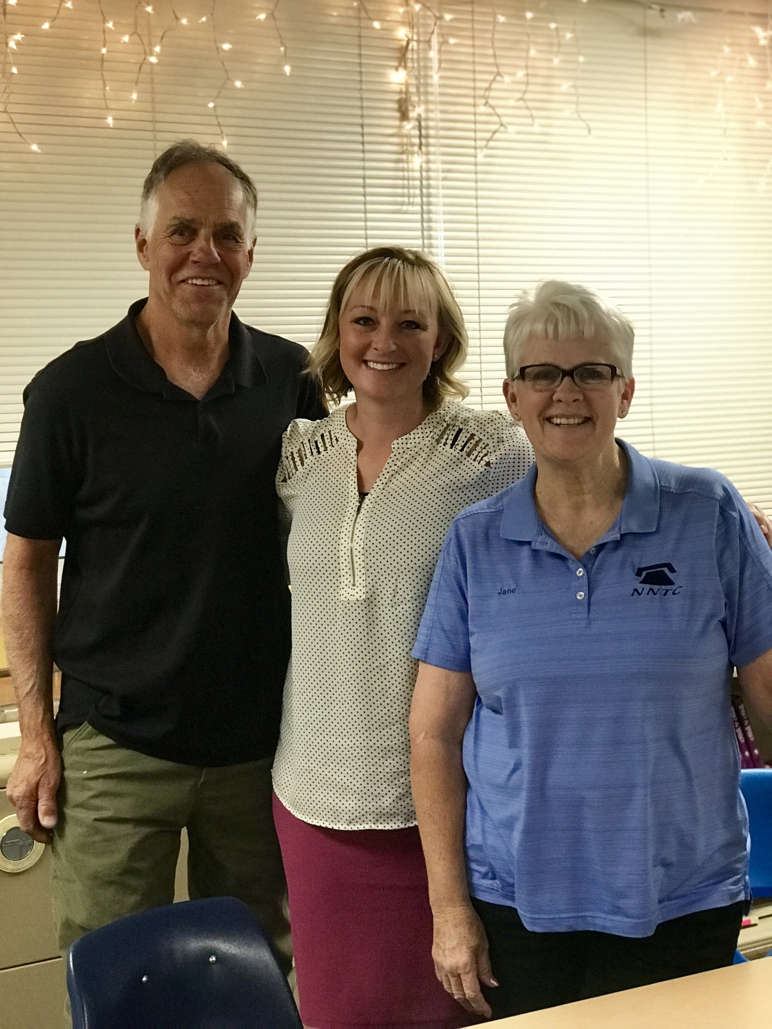 Paul, Sara, and Jane visiting Nulca High School to interview students.