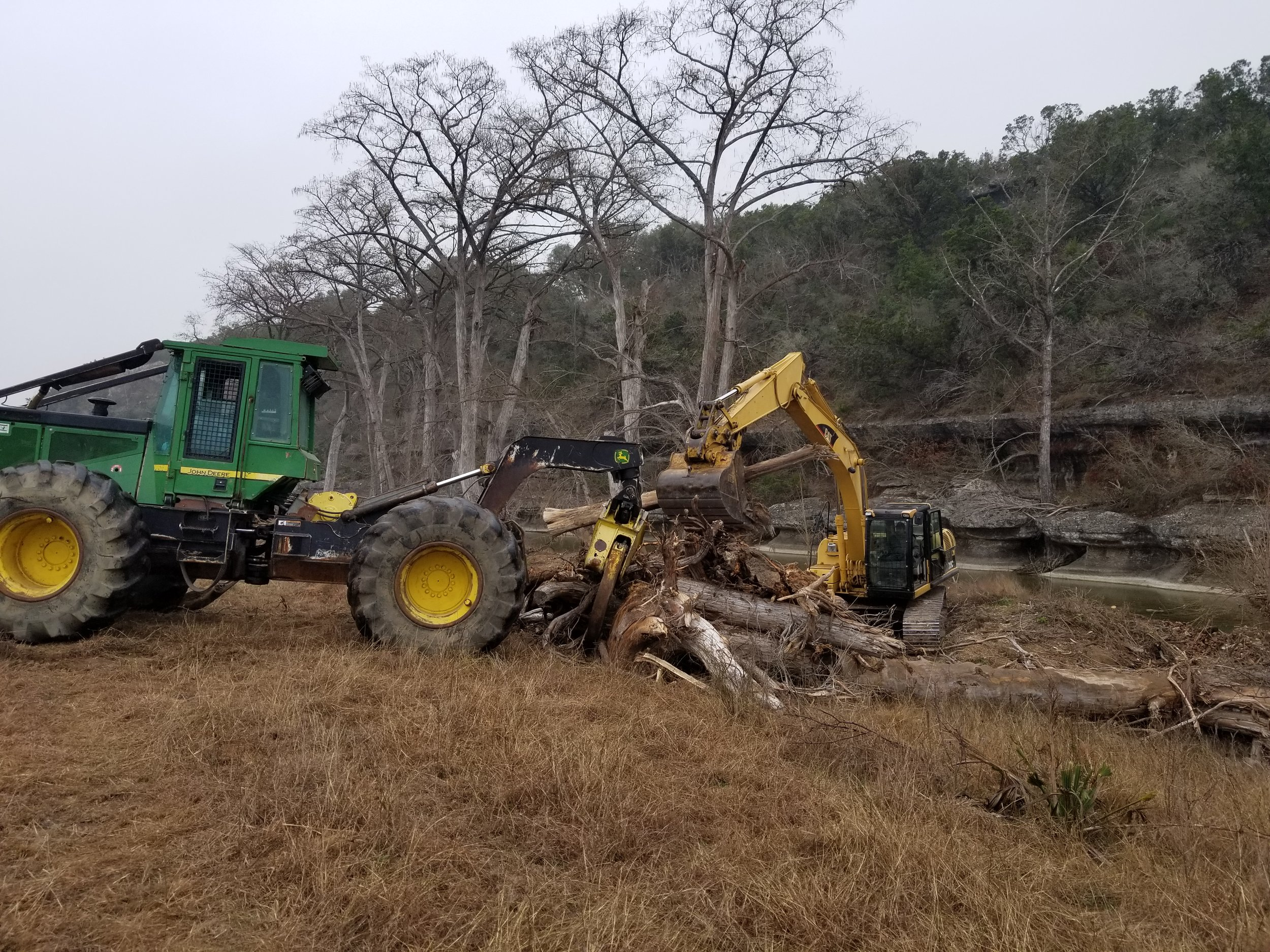 Timber services - Cahaba has a longstanding reputation in forestry, ever since our founder Buddy Fuzzell began cruising timber in 1961. Today, we are involved in land acquisition, timber cruising, logging, and stump extraction/removal.