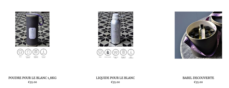 Visit our online boutique to get our Marie Lavande cleaning products and accessories.  Click here .
