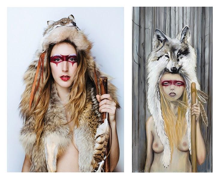 "Hannah Natali as ""Ghost Wolf"""