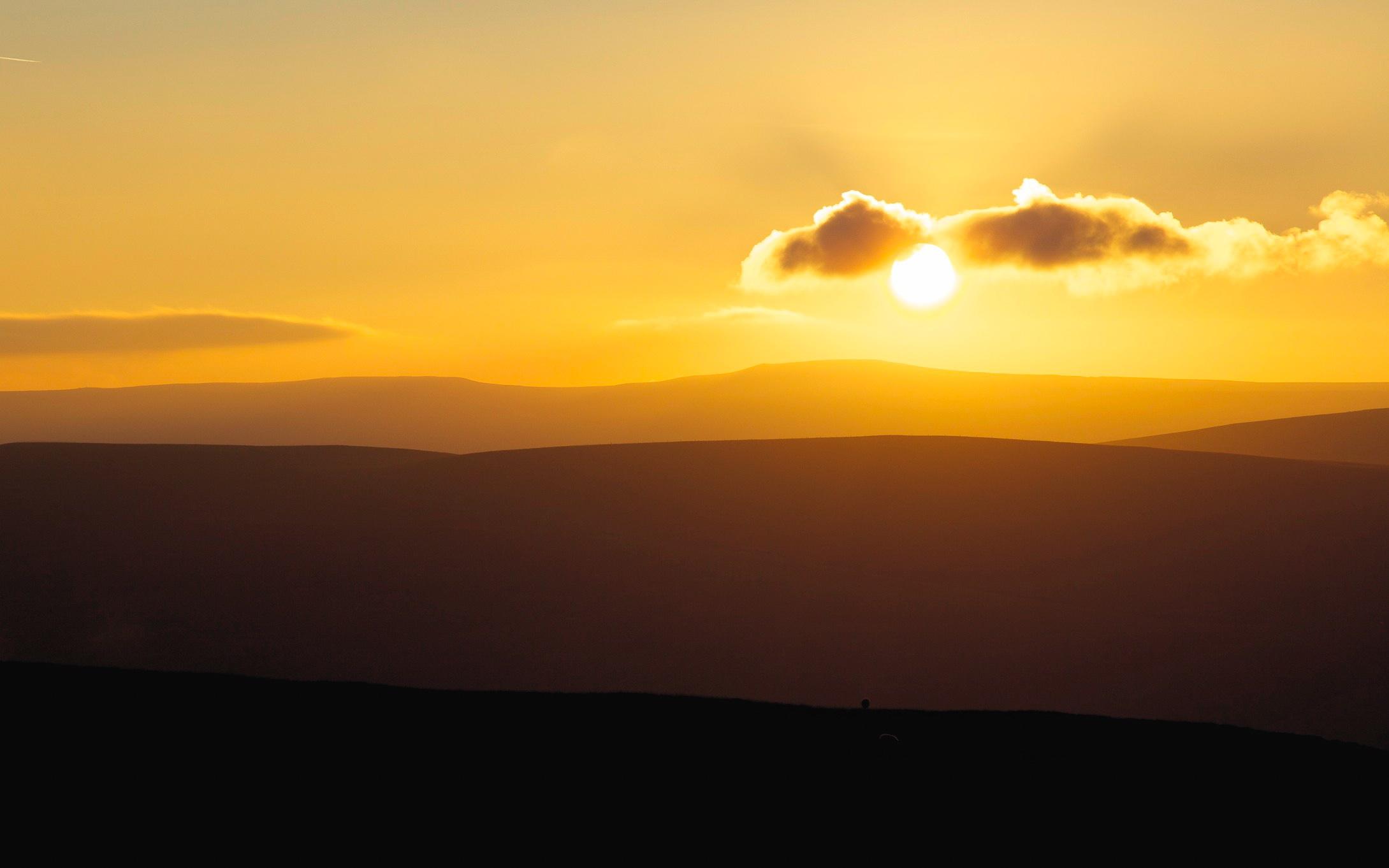 Sunset at Tan Hill