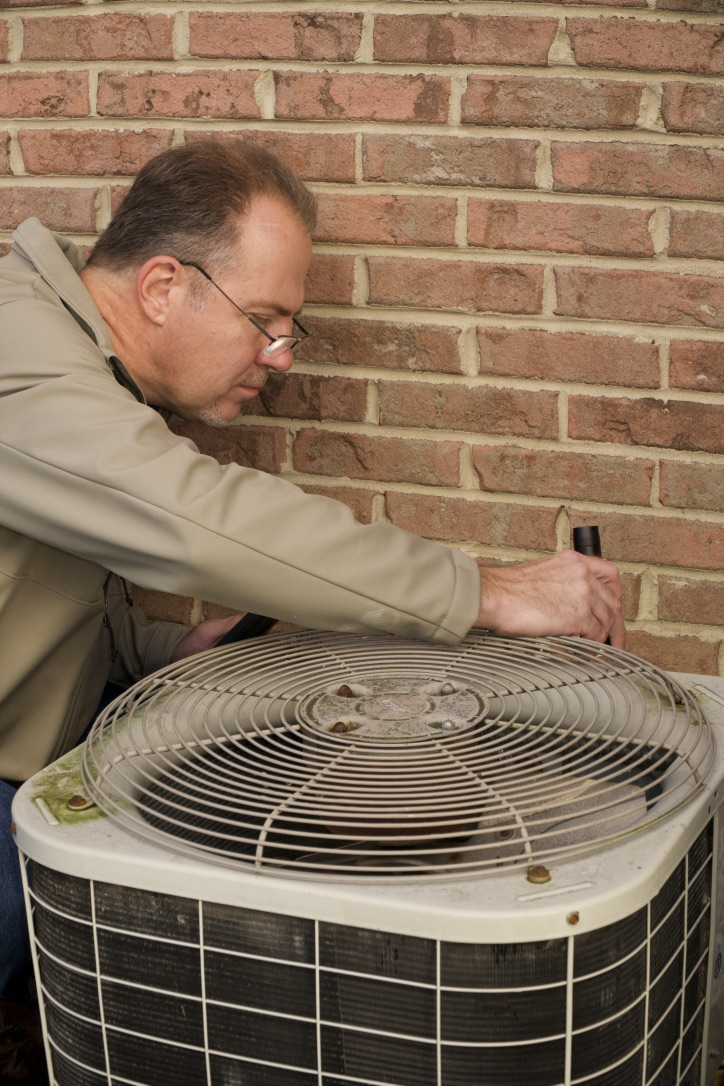 I inspect the AC condensing units to provide you with important information about the brand, its age, its capacity, serial number, and any recommended maintenance. This will be on the report for future reference.