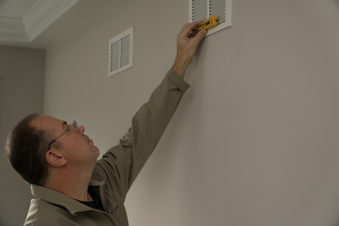 I check the heating and  air conditioning temperatures to make sure they are within standards. This can help me decide if further evaluation is needed by an HVAC Professional.