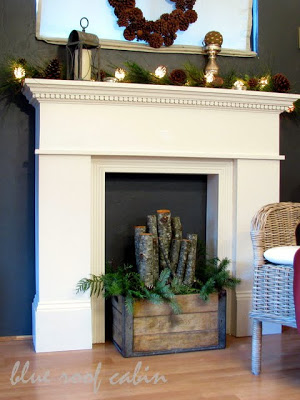 DIY FAUX FIREPLACE MANTLE