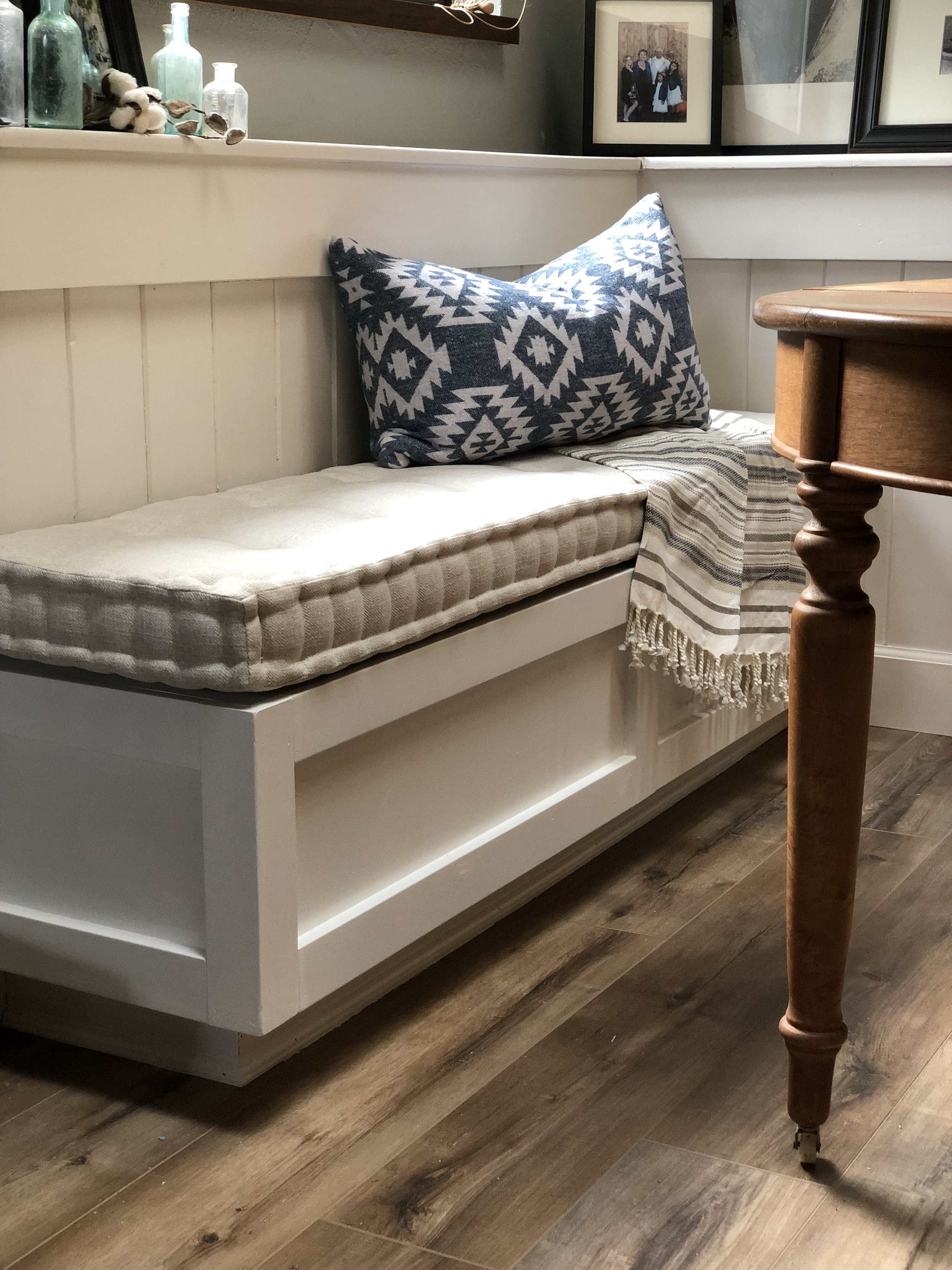 Diy Dining Room Banquette Blue Roof Cabin