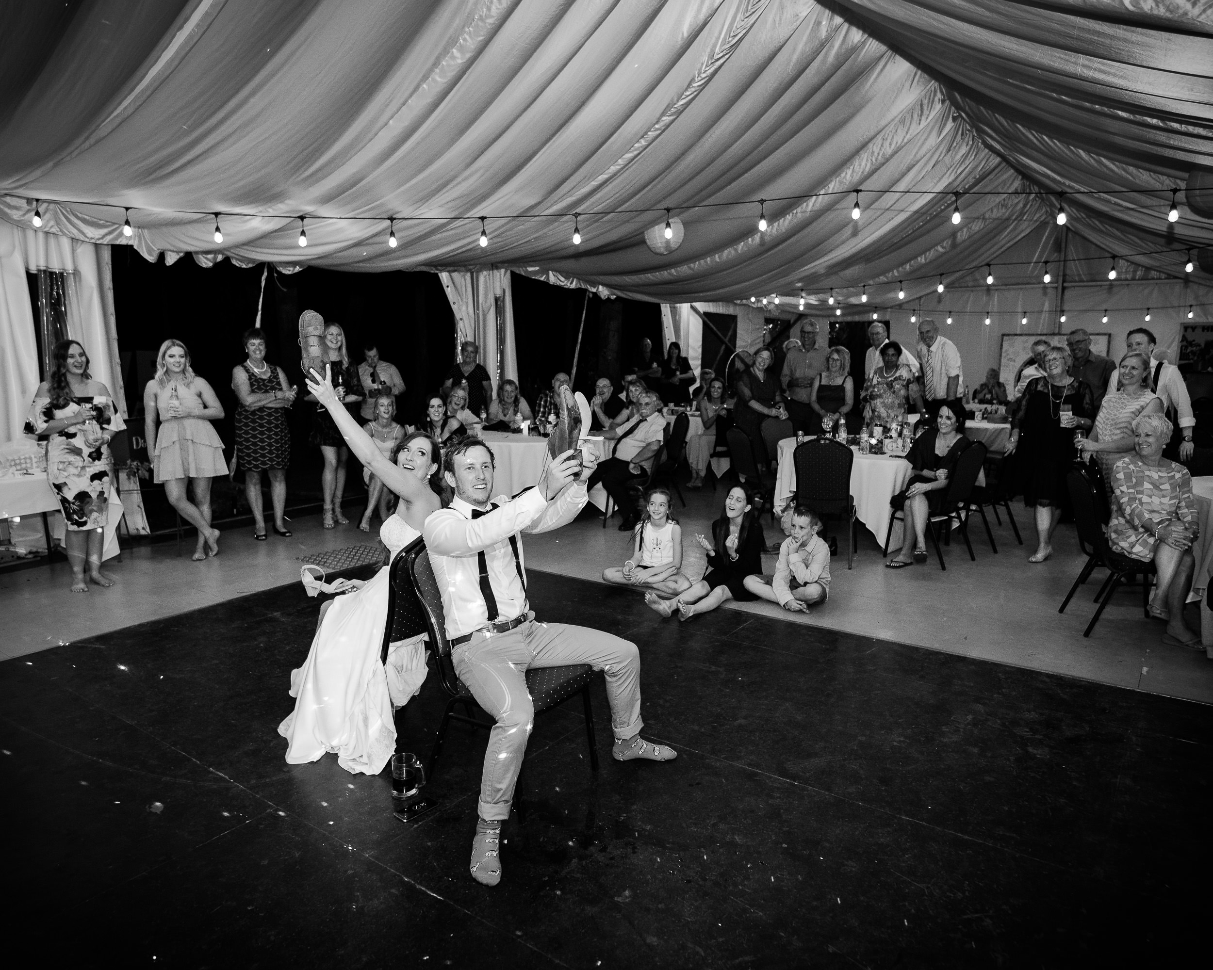 the 'Shoe Game' has been a great hit at Echuca weddings