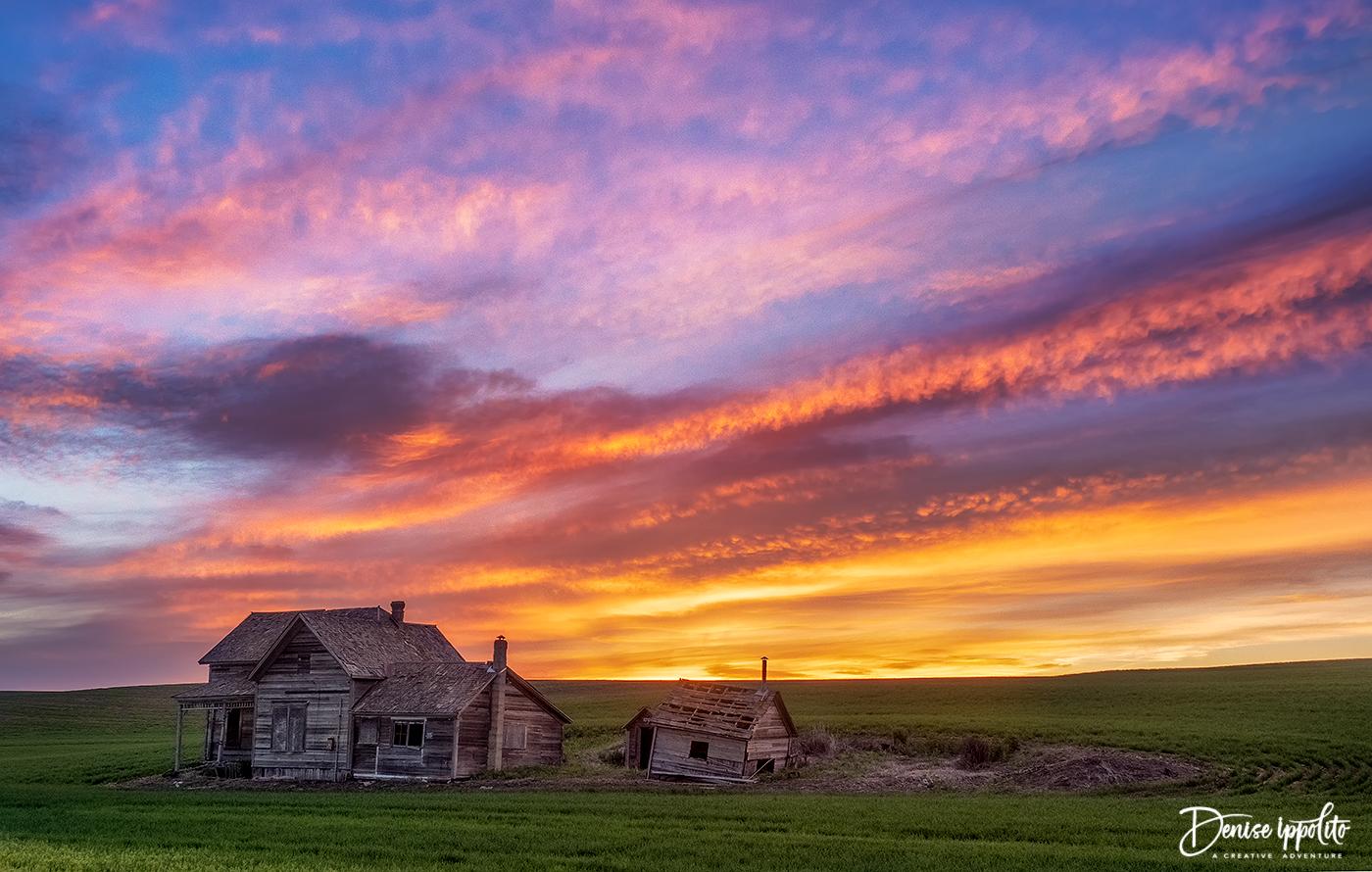A glorious morning sunrise