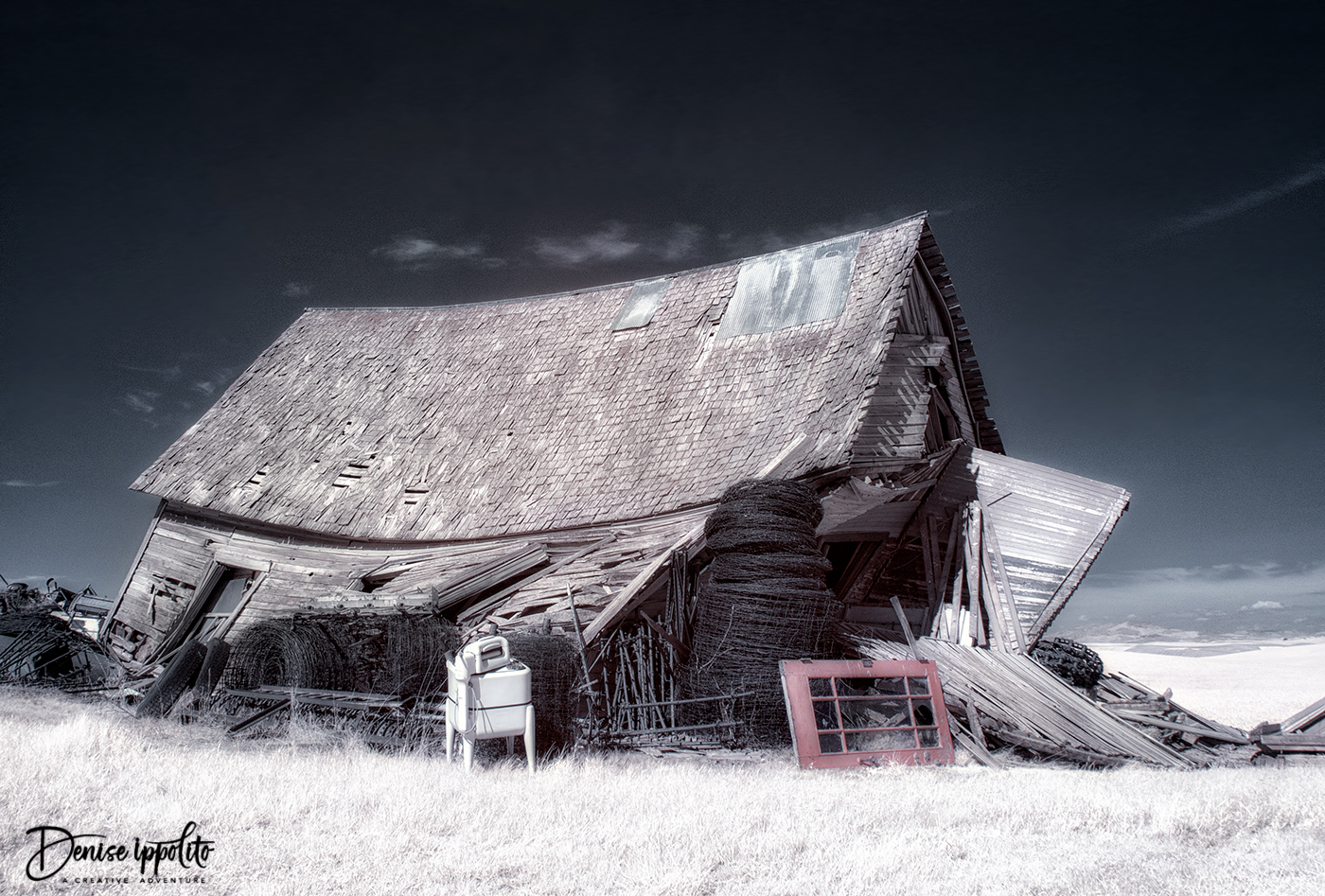 Old Schoolhouse, infrared