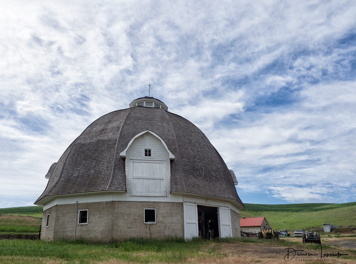 Steinke round barn, captured in 2017 by Denise Ippolito
