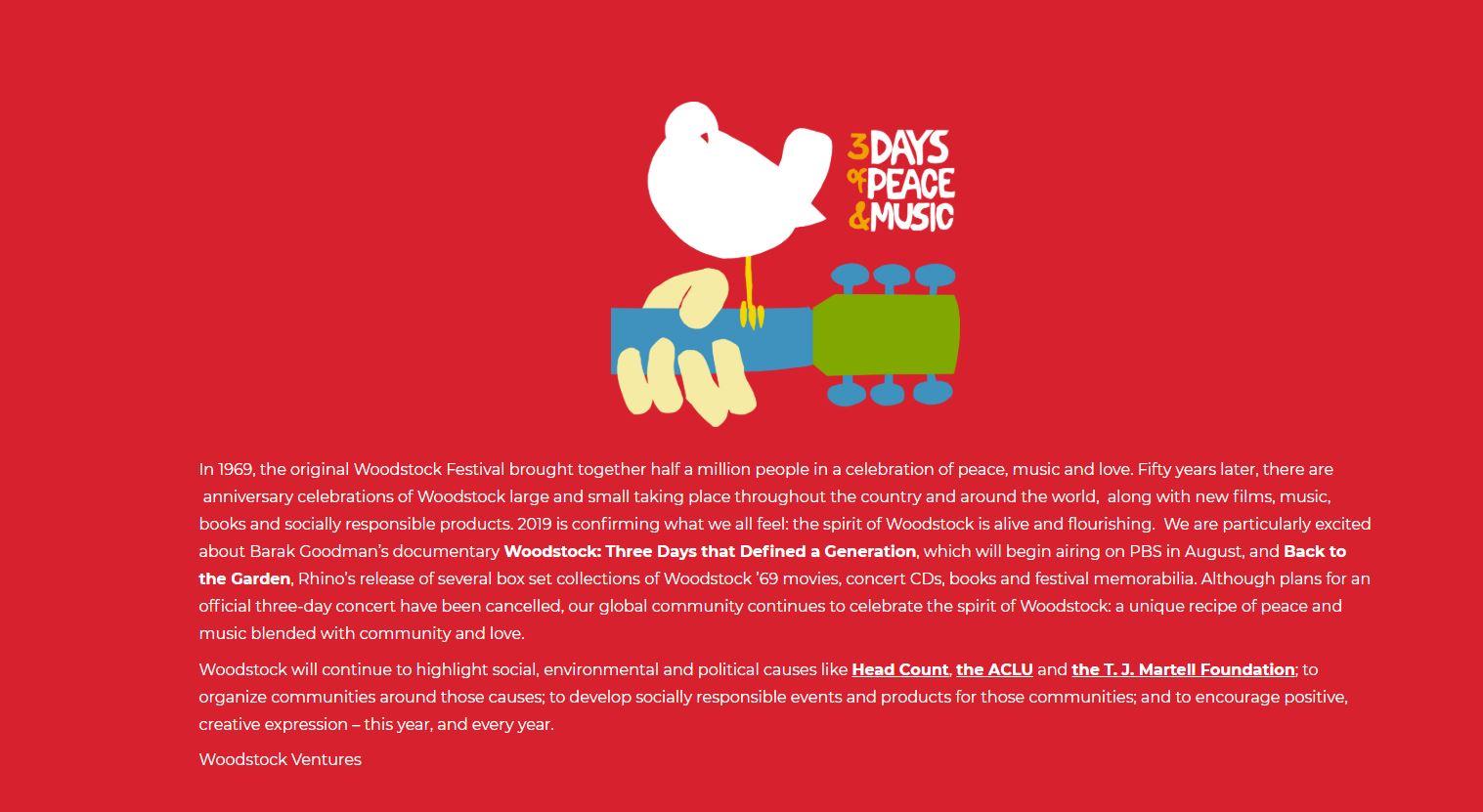 Official Woodstock website - The original Woodstock Poster was designed by Arnold Skolnick
