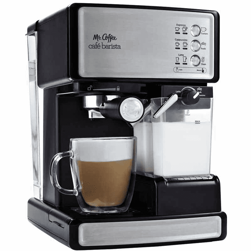 Mr. Coffee  Café Barista - Makes Espresso, Cappuccino and Lattes.Best of all it froths your milk.