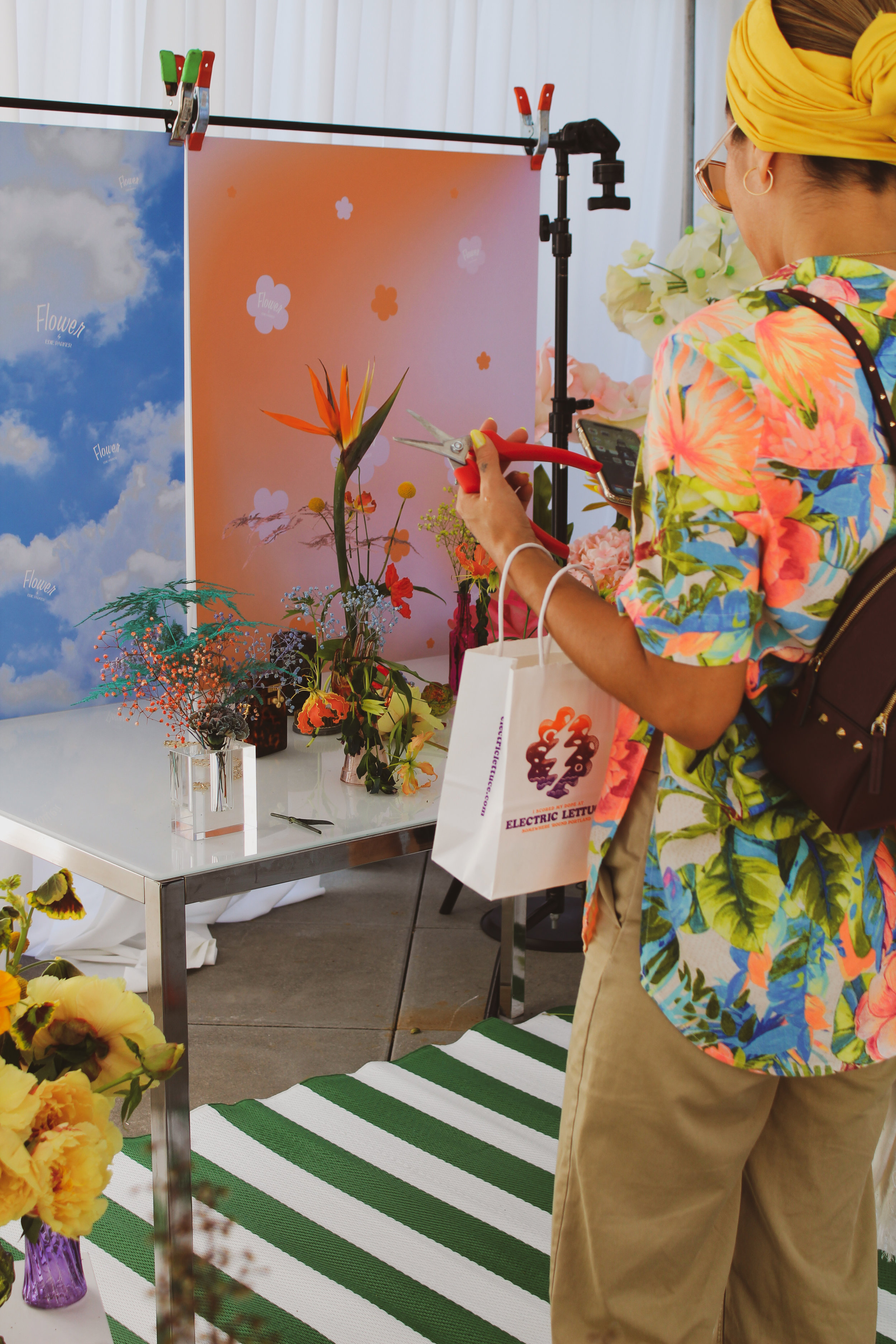 CCC © Edie Parker Flower Portrait Set Up In Bloom