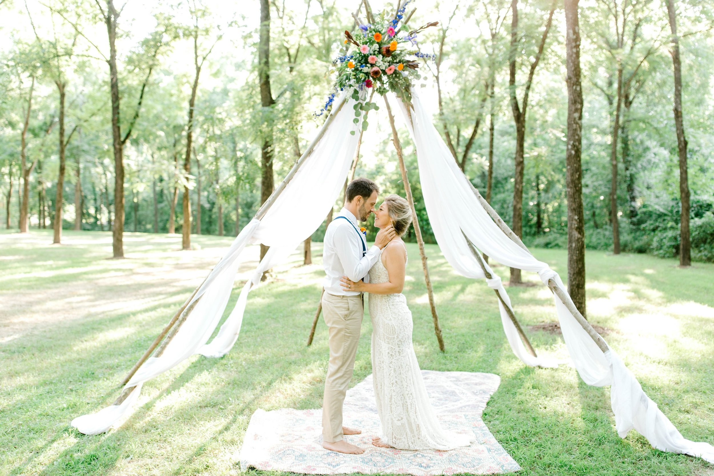 Bohemian Style Elopement at Lost Hill Lake