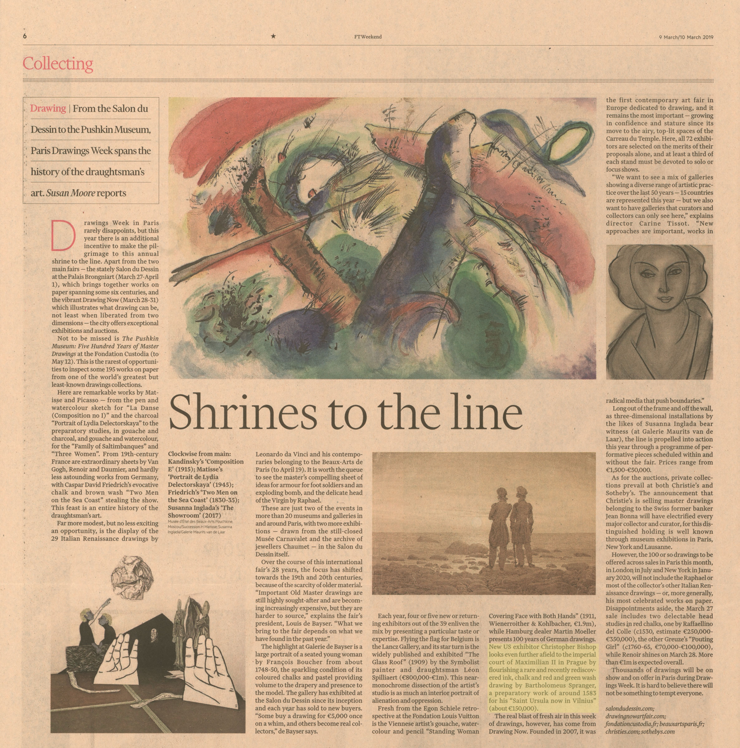 CBFA featured in the Financial Times - FTWeekend - Collecting - March 9, 2019