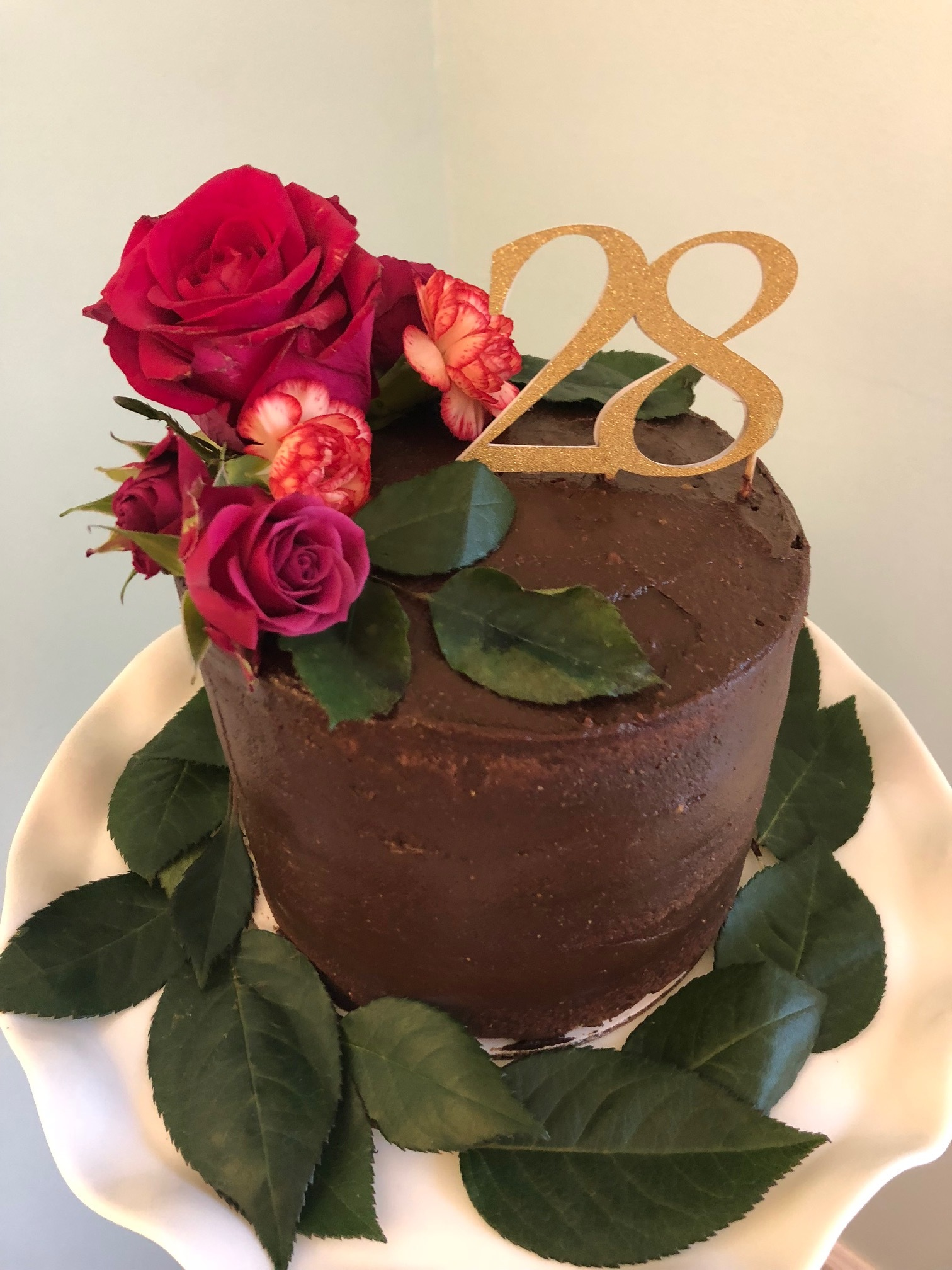 Grain free chocolate birthday cake   This cake is made from almond flour and does not contain any refined sugar.