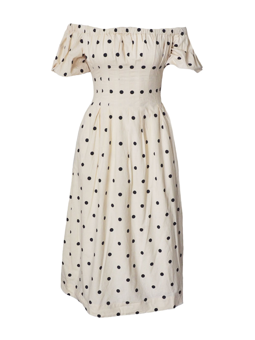 Ajaie Aaie navy blue polka dot dress.jpg