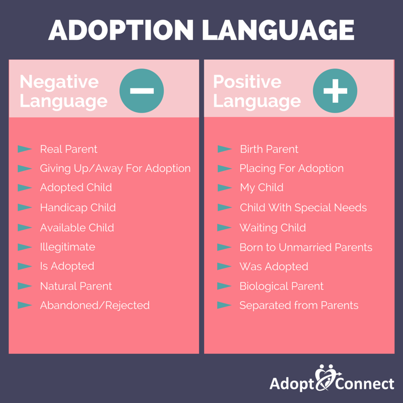 Adoption Language: 9 Phrases to Make Your Adoption Vocabulary More Positive -