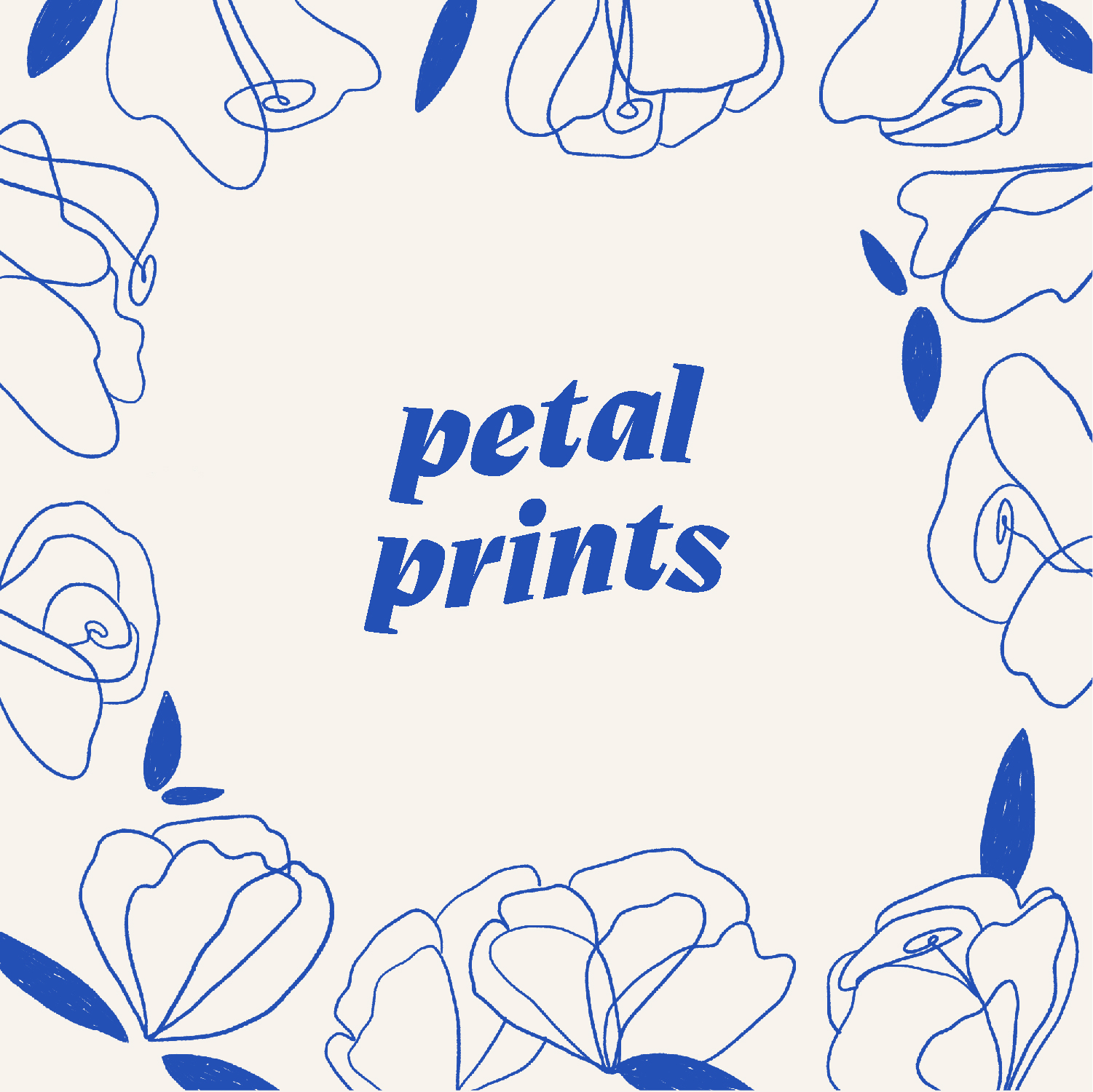 Petal Prints   Branding - Petal Prints is a fictitious company that I have created and designed a visual identity for. I wanted it to feel playful (hence the wavy type for the logo) and also clean and simple. I incorporated floral illustrations that are imperfect because I think that's more interesting! I love adding little bits of texture to make it seem drawn by hand (and it is! just digitally).