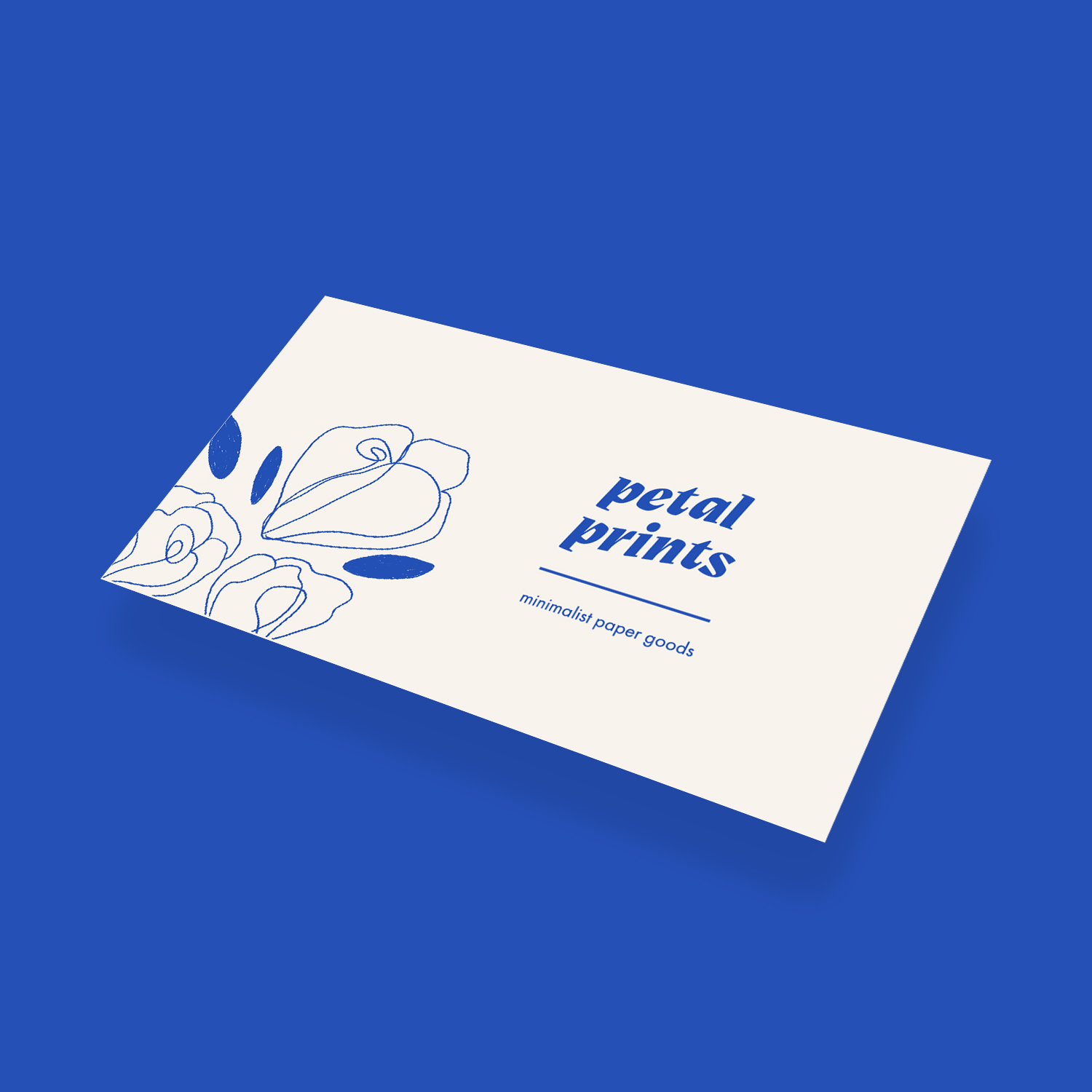 Business card application - front