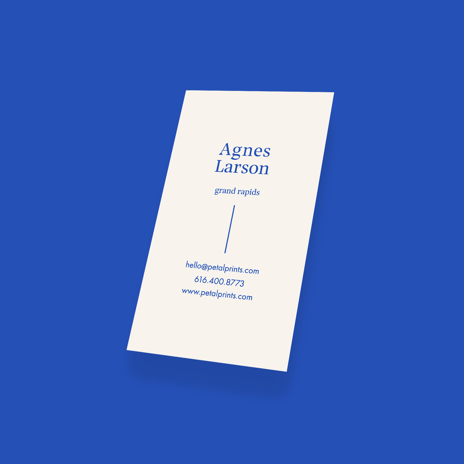 Business card application - back