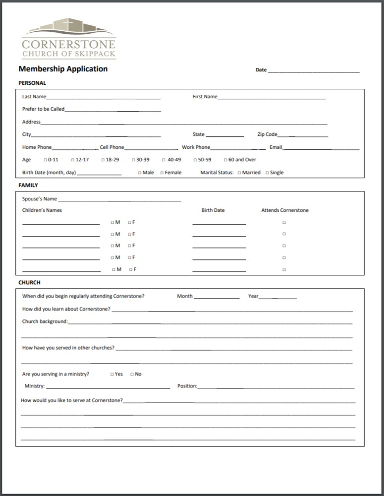 Membership Application -