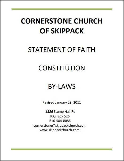 Statement of Faith, Constitution and By-Laws -
