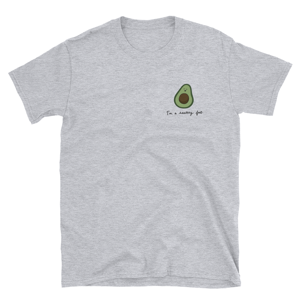 avocado grey tee