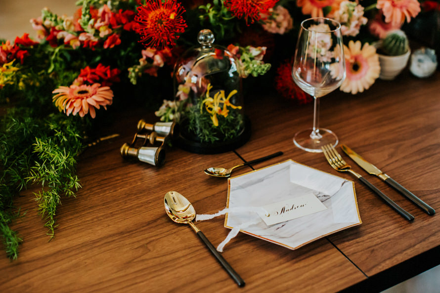 Wedding Styled Shoot at  BOTANICO  Floral Styling By:  CC Lee Designs  | Cutlery By:  Lovera Collections  | Plate By:  Truffula Forest  | Photographed By:  Kai Picture
