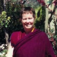 VEN. ANI CHODRON - Ven. Ani Chodron was ordained on His Holiness Drikung Kyabgon's birthday in 1995 and has been a student of Drupon Samten Rinpoche since 1991. She is currently engaged in the traditional 3-Year Retreat Home Study program under the guidance of Drupon Samten Rinpoche.