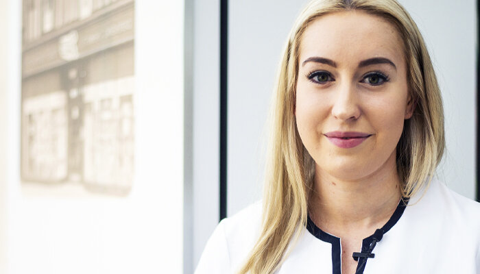 Sarah Hackett - Sarah is part of a new breed of employees, learning whilst she is earning couldn't have ever been a better decision. See More >