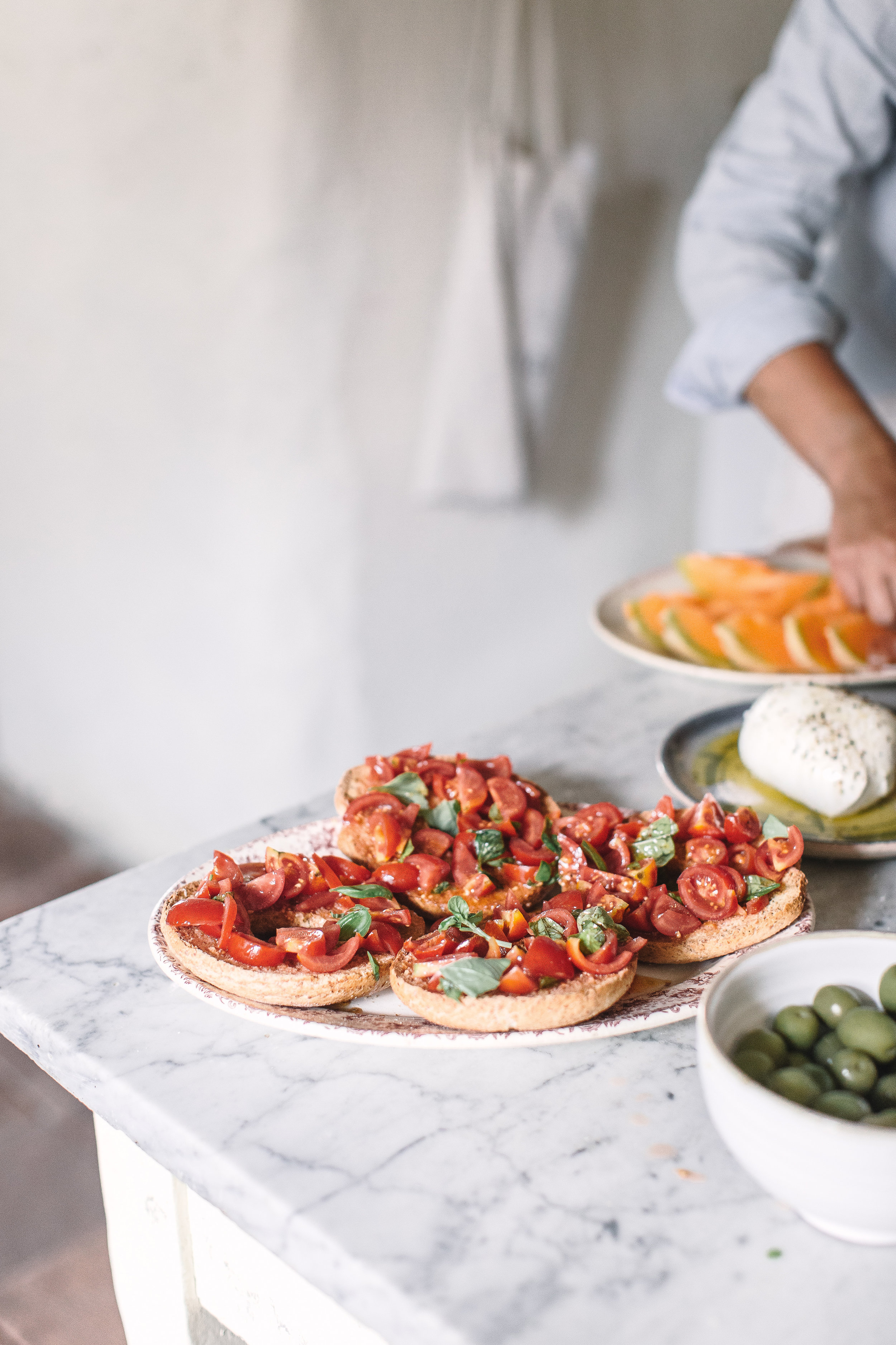 Silvia and I will source the freshest local ingredients and cook every meals for you from scratch. We'll curate the menu and set the mood for unforgettable dinners table conversation.