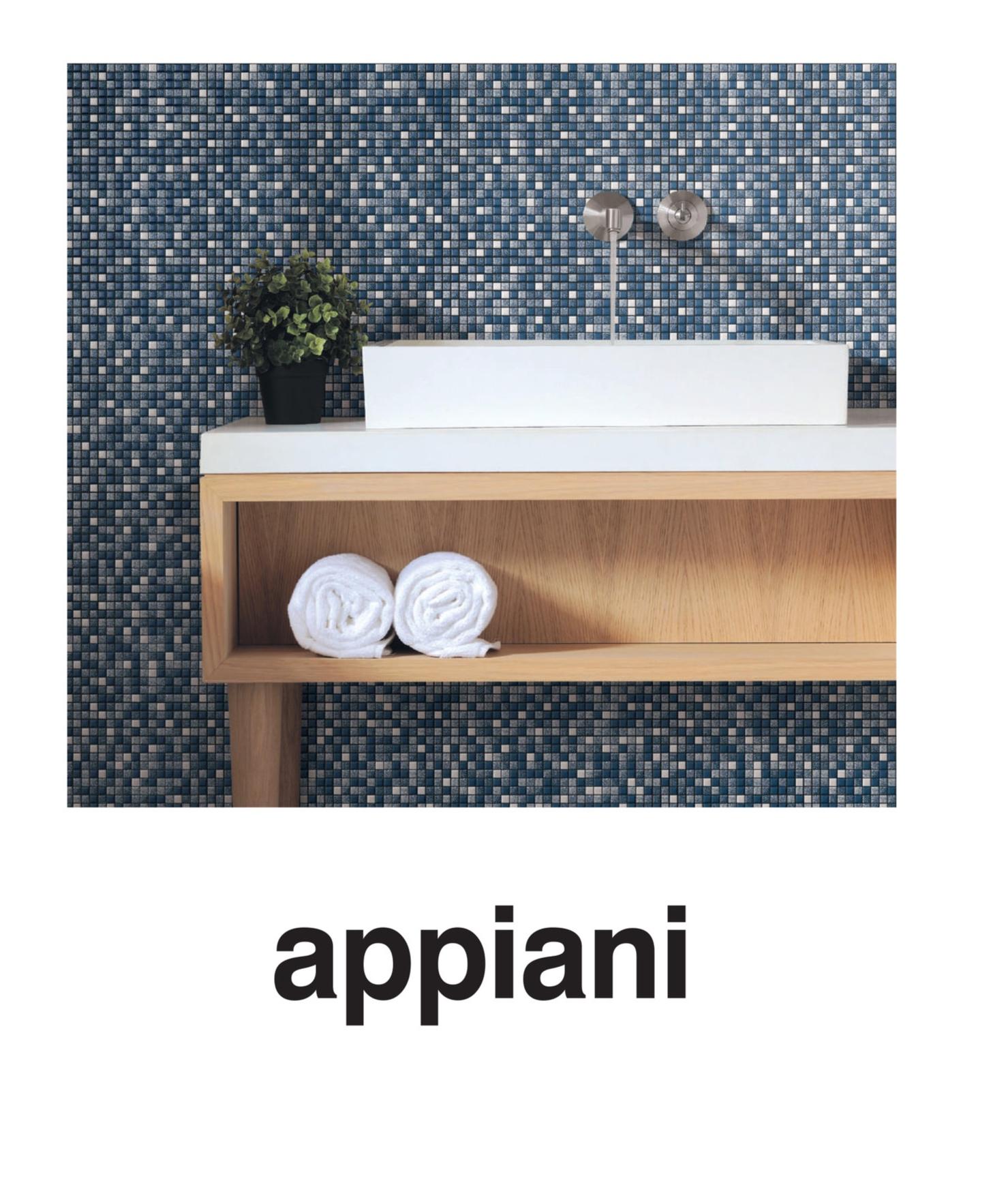 Appiani è ceramica per l'architettura ad alto contenuto estetico per la massima espressione della creatività legata alla funzionalità.. Singoli prodotti e moduli compositi che i progettisti sono liberi di articolare in disegni e composizioni di forte valore decorativo e architettonico.