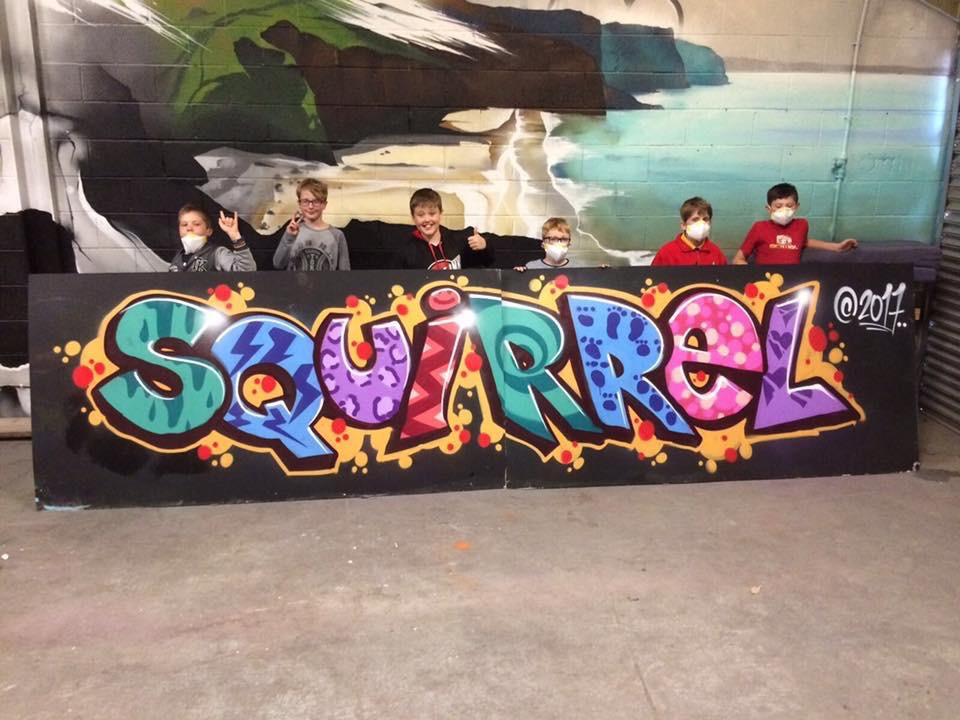 We offer Graffiti Workshop sessions at The Boiler House to adults and children age 10 years or over. The sessions are creative, practical and lots of fun! The Group work with a Professional Artist to paint a large graffiti piece on 8x4 wooden boards.  www.boilerhousegraffiti.com