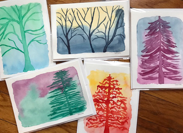 Fantastical Trees Greeting Cards