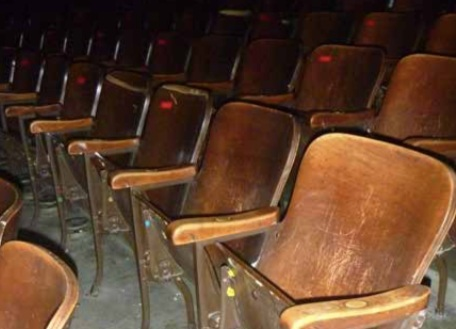 Dated and broken seating