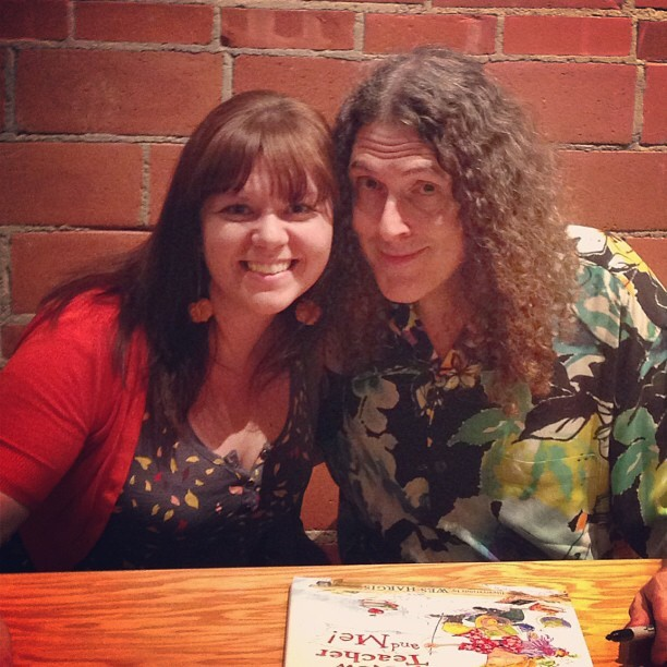 In 2013, I met the legend Weird Al at a special screening for the 25th anniversary of his movie UHF, filmed in Tulsa, OK. They even sold Twinkie Wiener Sandwiches!⠀ .⠀ .⠀ .⠀ #tbt #weirdal #uhf #twinkiewienersandwich #wheeloffish #channel8 #tulsa #circlecinema #80skid #90skid #nostalgia