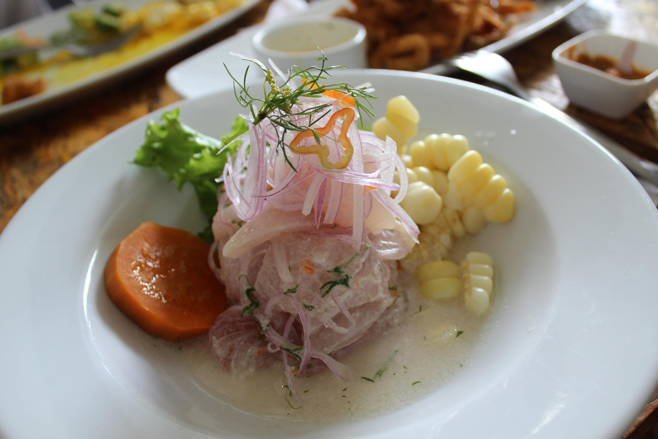 Ceviche de pescado (tradicional)