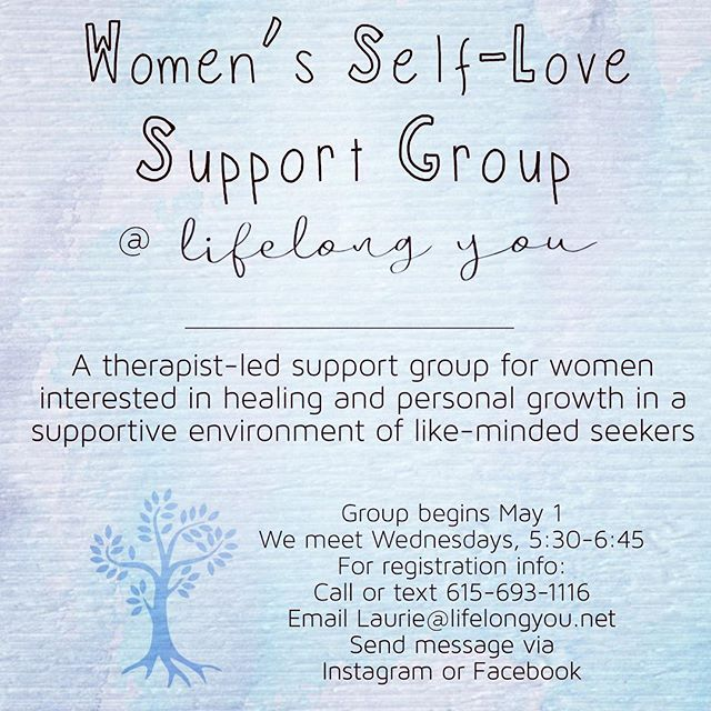 Support group starting May 1 @ LifeLong You. I have been leading support groups for years and healing and growing in community can be incredibly powerful. Group meets for six weeks. $40/session. Reach out if you think this might be a good fit for you. Feel free to share with women who might benefit from this sort of support! . . . . . . #lifelongyou #bowlinggreen #bowlinggreenky #bowlinggreentherapist #bowlinggreencoach #bestofbg #buylocalbg #lifecoachforwomen #lifecoach #therapist #therapy #coach #therapists #acoa #healing #selflove #selfcare #growth #supportgroup #grouptherapy #adultchildren #hope #peace #balance #