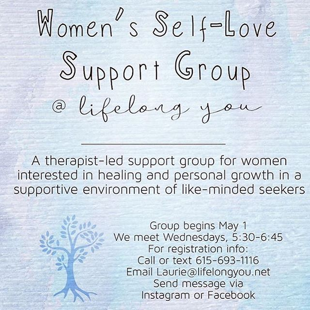 Support group starting May 1 @ LifeLong You. I have been leading support groups for years and healing and growing in community can be incredibly powerful. Group meets for six weeks. $40/session. Reach out if you think this might be a good fit for you. Feel free to share with women who might benefit from this sort of support! . . . . . #lifelongyou #bowlinggreen #bowlinggreenky #bowlinggreentherapist #bowlinggreencoach #bestofbg #buylocalbg #lifecoachforwomen #lifecoach #therapist #therapy #coach #therapists #acoa #healing #selflove #selfcare #growth #supportgroup #grouptherapy #adultchildren #hope #peace #balance