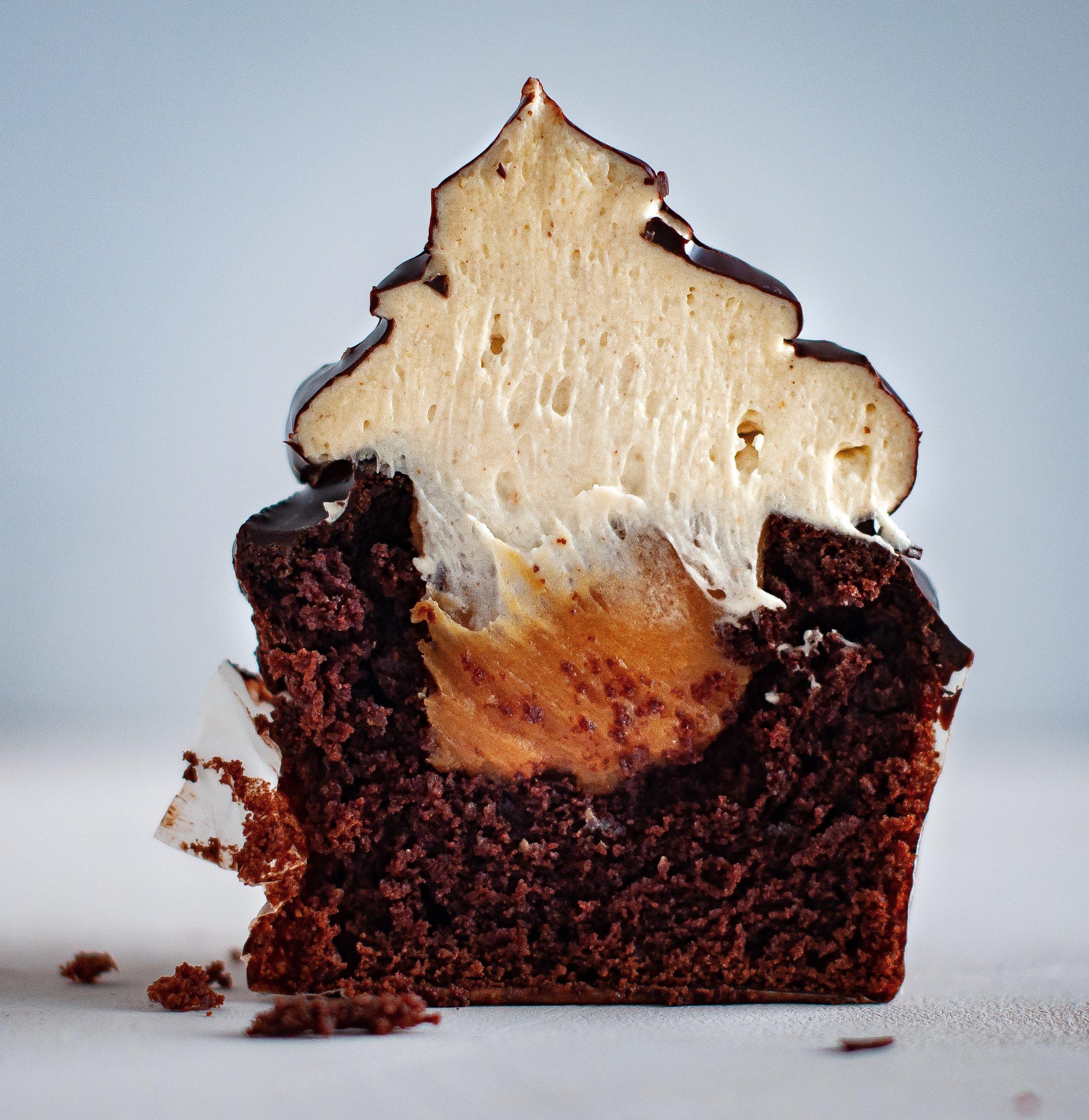 vegan cupcake cross-section
