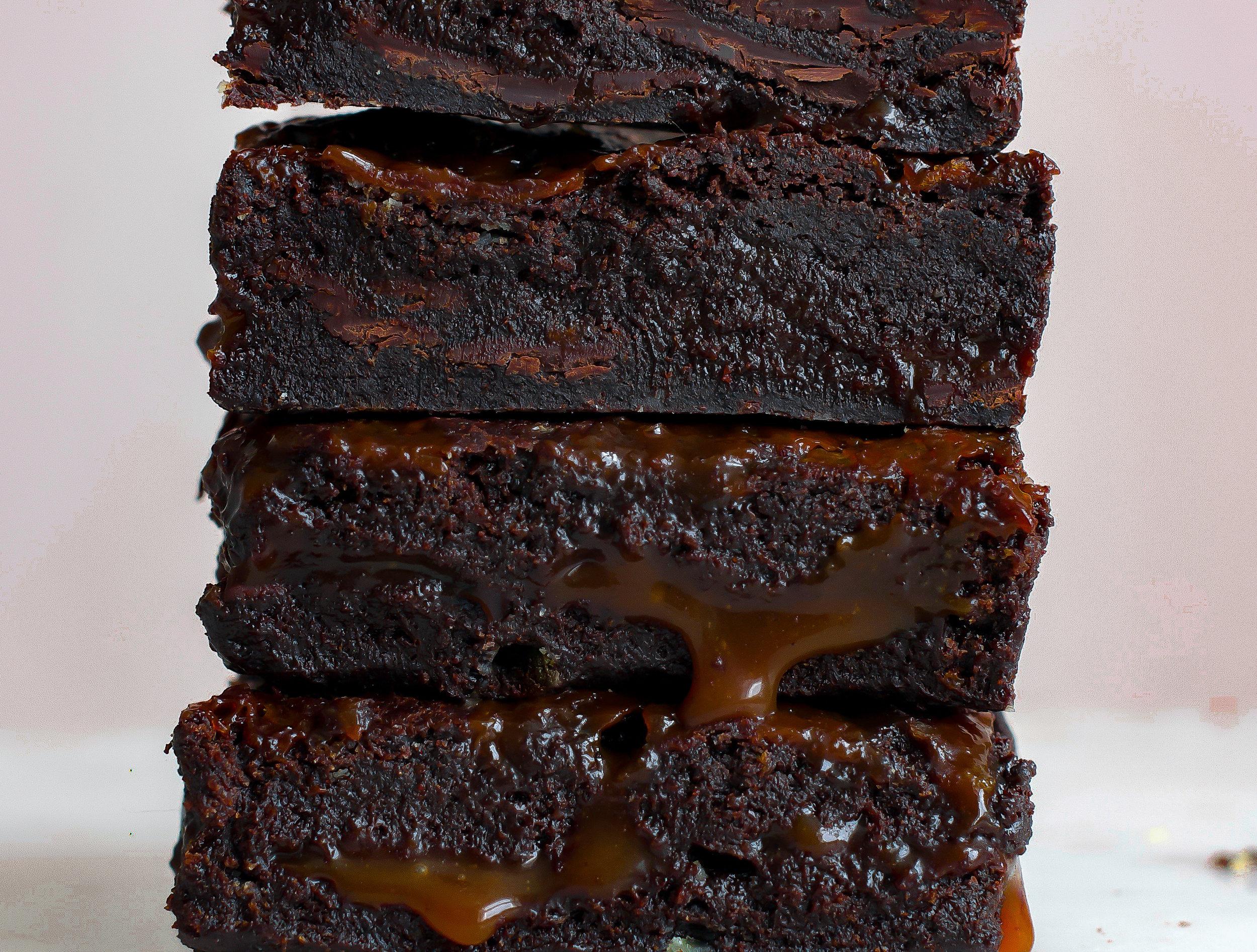 vegan goldmine brownies